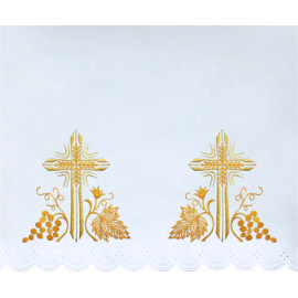 Altar Tablecloth cross - golden embroidery (48)