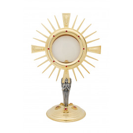 Gold plated monstrance 45 cm high (17)