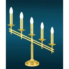 Brass candlestick - 5 bulbs (60 cm)