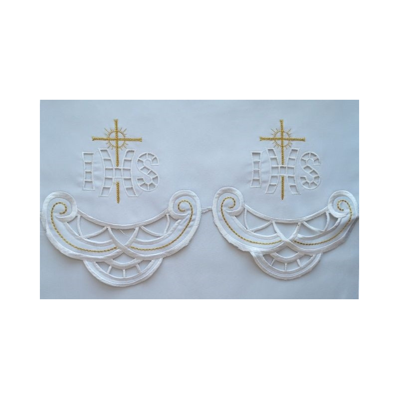 Embroidered altar tablecloth - Eucharistic pattern (185)