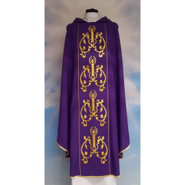 Embroidered Advent Chasuble (2)