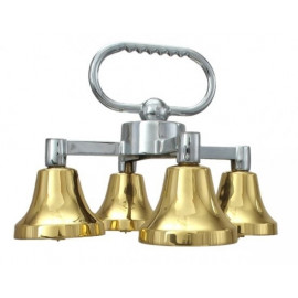 Quadruple altar bells with one sound