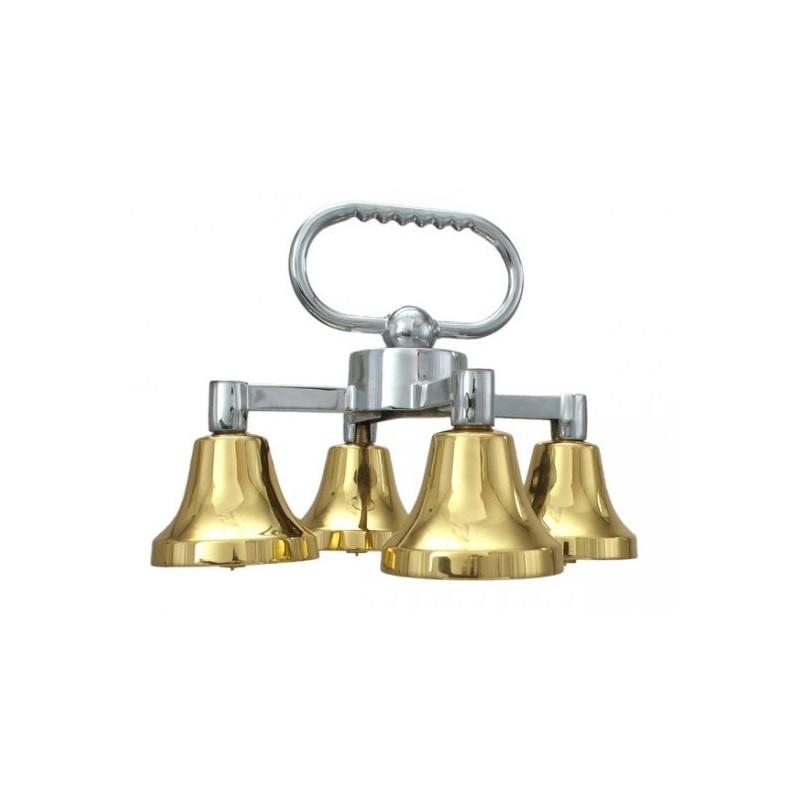Quadruple bells with one sound