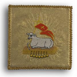 Chalice pall Lamb gold (16)