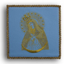 Chalice pall blue:  Our Lady of the Gate of Dawn (21)