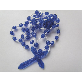 Plastic rosary model blue