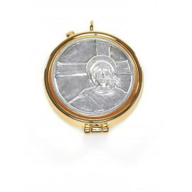 Brass pyx, gold-plated - Christ