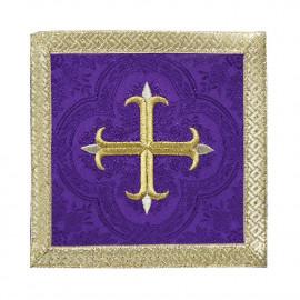 Purple pall with cross + gold trim