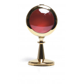 Reliquary made of polished brass, gilded - 16 cm