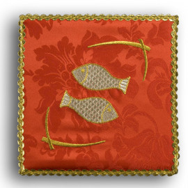 "Chalice pall red ""Fish"" (32)"