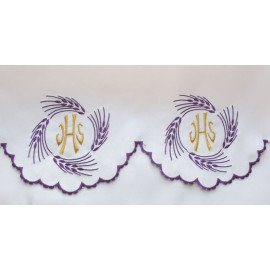 Embroidered altar tablecloth - IHS ears (74)
