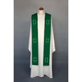 Embroidered stole - liturgical colors, Crosses embroidered (14)