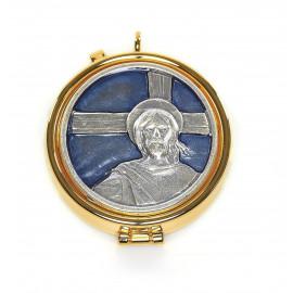 Pyx with enamel plaque - Christ