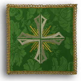 Chalice pall cross green (38)