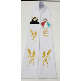 Embroidered stole of Merciful Jesus, Saint Faustina