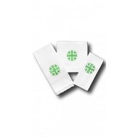 Chalice Linen Sets - green Jerusalem cross (6)