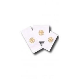Chalice Linen Sets - gold Jerusalem cross (7)