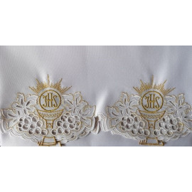 Embroidered altar tablecloth - Eucharistic pattern (100)