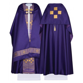 Satin Liturgical Veil - Cross (36)
