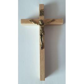 Wooden Wall Cross - 7 cm x 12,5 cm, light brown (9)