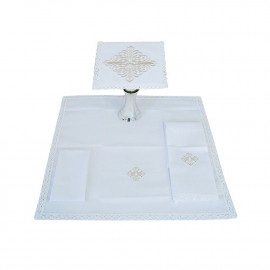 Chalice linen embroidery Cross (11)