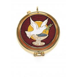 Pyx with enamel plaque - Dove of Peace