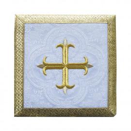 Pall white Cross + gold trim