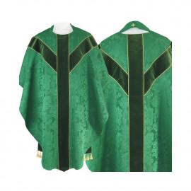 Semi Gothic chasuble - green jacquard (57)