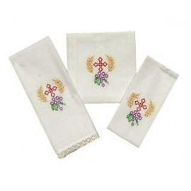 Chalice Linen Sets - embroidered cross and ears of grain (20)