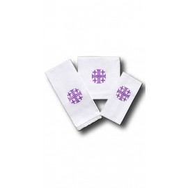 Chalice Linen Sets - violet Jerusalem cross (21)