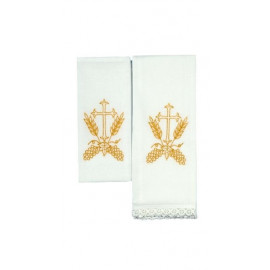 Chalice Linen Sets - embroidered cross and ears of grain (22)