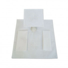 Chalice linen embroidery Cross (14)