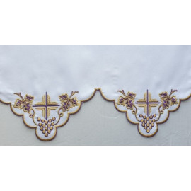 Embroidered altar tablecloth - Eucharistic pattern (204)