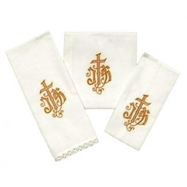 Chalice Linen Sets - gold IHS (25)
