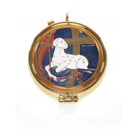 Pyx with enamel plaque - Paschal Lamb
