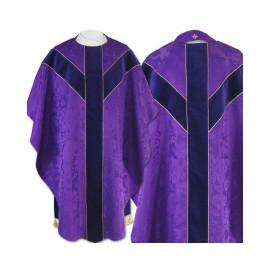 Semi gothic chasuble - purple jacquard (56)