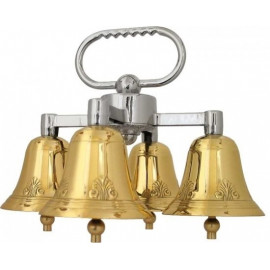 Quadruple altar bells with one sound, decorated