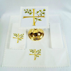 Chalice Linen Sets - cross of olive branches (36)