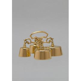 Altar Bell quadruple brass, gold plated