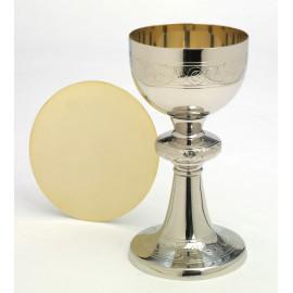 Silver chalice + paten - 20 cm