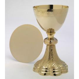 Gilded chalice + paten -21.5 cm (25)
