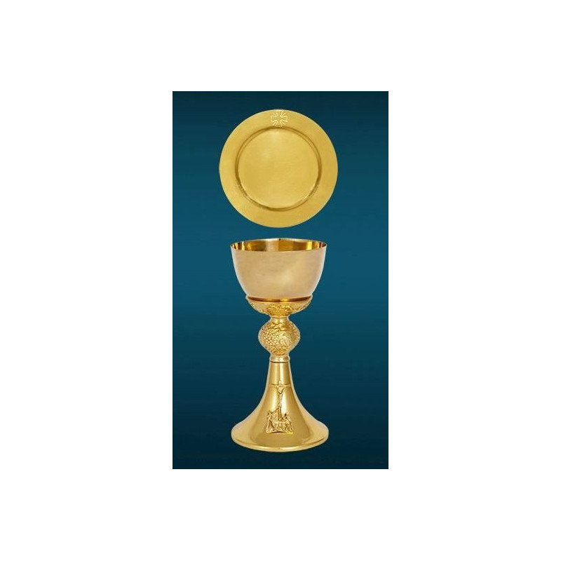 Gilded chalice - with the image of the last supper - 20 cm (81)