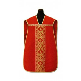 Roman chasuble red - damask fabric (5)