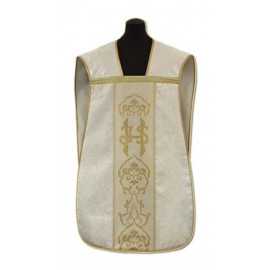 Roman chasuble cream- damask fabric (6)