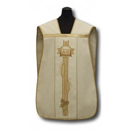 Roman chasuble cream - elano-wool (7)