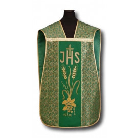 Roman chasuble green IHS - elano-wool (9)