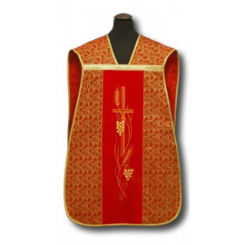 Roman chasuble red - cross (11)